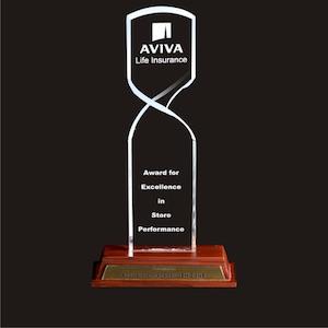 Acrylic Awards Twisted Design