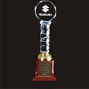 Buy now acrylic-awards-pillar-with-top-logo-edmediastore